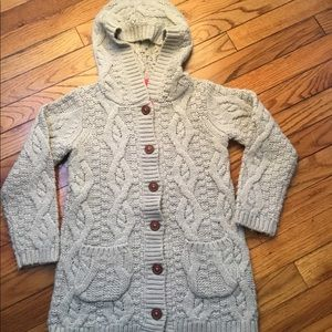 Mini boden cable knit sweater